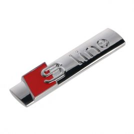 AUDI S-line embleem zilver glans
