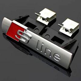 AUDI S-line embleem grill zilver Mat