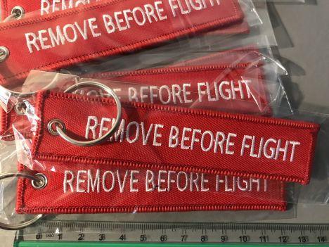 Sleutelhanger REMOVE BEFORE FLIGHT