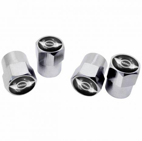 MINI COOPER ventieldopjes zilver