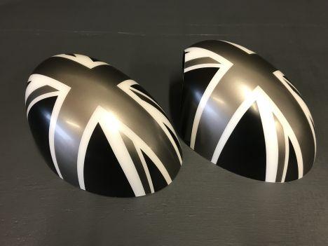 MINI R56 Spiegelkappen union jack grijs