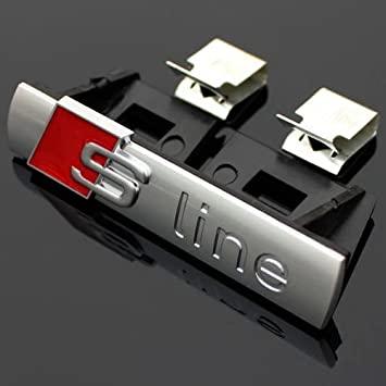 AUDI S-Line embleem grill zilver glans