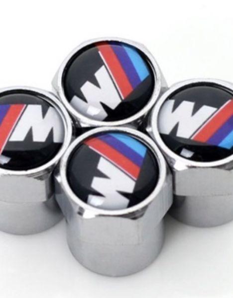 BMW M Power ventieldopjes zilver