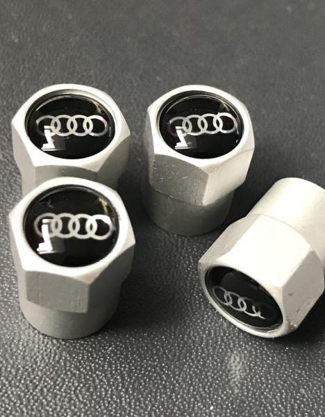 AUDI ventieldopjes zilver 3D
